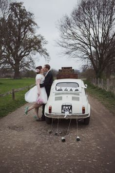 Fiat 500 Wedding Car  Lisa Devlin  http://devlinphotos.co.uk