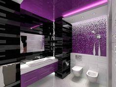 99 Best Purple Bathrooms Images On Pinterest Bathroom Ideas Bath Design And Designs
