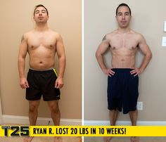 "Ryan R. lost 20 lbs in 10 weeks with Focus T25! Congrats Ryan! Way to #FOCUS!    ""I haven't been in this kind of shape since I used to wrestle back in high school. Additionally, I was able to get off my medication for acid reflux."""
