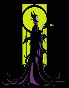 even in silhouette, ultimate in intimidating. Malificent my favorite Disney Villain