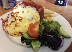 Chicken parma from the Coach & Horses Inn, Clarkefield