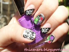 ~on beauty stuff and what else's....~: BFF Challenge:Punk Nail Art