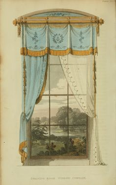 Regency-style window dressing
