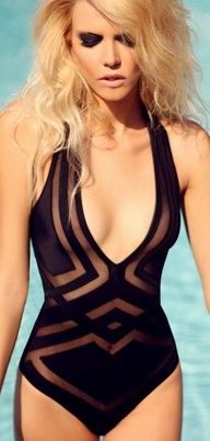 Usually not a fan of one piece bathing suits but I ...