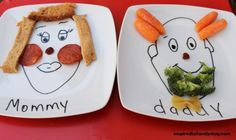 Funny Face Plates of Mommy and Daddy | DIY for Life