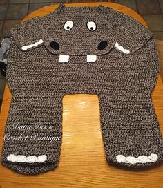 Ravelry: Bulky Hippo Blanket for Two pattern by Dana Draves