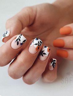Holiday Nail Art, Christmas Nail Art Designs, Best Nail Art Designs, Short Nail Designs, Fall Nail Designs, Christmas Nails, Flower Nail Designs, Designs On Nails, Nail Design For Short Nails