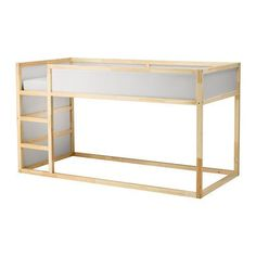 KURA bed convertible - white, pine- KURA Bett umbaufähig – weiß, Kiefer KURA Convertible Bed IKEA Turned upside down, the bed quickly transforms from a low bed into a loft bed.