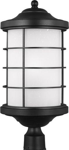 0-008929>Sauganash 1-Light Energy Star Outdoor Post Lantern Black