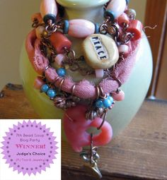 Pretty Things - Bead Soup Blog Party - PJ Tool Jewelry & Craft, Melissa Mesara at one-eared pig beads