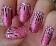 Possible prom nails maybe in black ( dark colors)