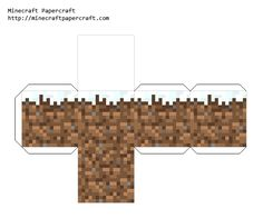 Minecraft dirt block with snow on it. Print out onto thick paper. Would make a cute Christmas tree ornament.