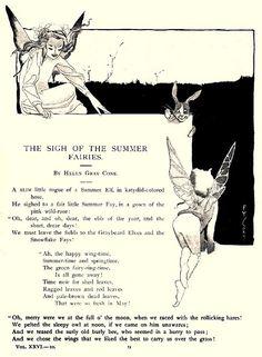 The Sigh of the Summer Fairies by Helen Gray Cone Fairy Quotes, Elves And Fairies, Vintage Fairies, Believe In Magic, Flower Fairies, Fairy Art, Book Of Shadows, Mythical Creatures, Kawaii