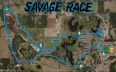 Savage Race Obstacle Race Sample Course Map | Savage Race - The Race Built To Kick Your Ass!       One day......