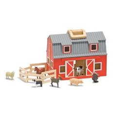 Toy barn - so cute!  I really wanted one of these when I was a little girl!