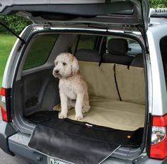 Kurgo Cargo Cover Protects SUV from Dirty Dogs - Give Your Dog a Great Place to Ride While Keeping the Dirt & Mess Away From the Carpet - Easy to Use & Clean - Machine Washable! - Keeps Cargo Area Clean from Your Gear As Well - Cross Peak Products Cute Puppies, Cute Dogs, Dogs And Puppies, Dog Car Accessories, Dog Seat Covers, Dog Car Seats, Cute Baby Animals, Dog Pictures, 6 Years