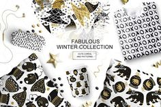 Fabulous winter collection  by Alyonka_lis on @creativemarket
