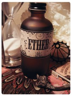 victorian oil bath - semi-precious practically magical artisan bath oil in hugemongous 4 Oz frosted glass apothecary bottle on Etsy, $30.00