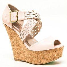 Blush Peep toe Platform #Wedge