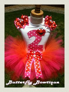 Happy Birthday Red Sesame Monster by ButterflyBowtique on Etsy, $47.50