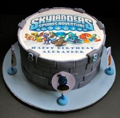 Skylanders Edible Cake Photo Topper Birthday Party Decoration