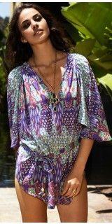 Melissa Odabash 2013 Abbey Tunic #coverups #flower #beachoutfit #fashion #summer southbeachswimsuits.com