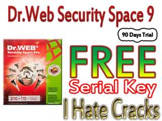Dr.Web Security Space 9 With Serial Key Use It 90 Days For Free (Official Promo)