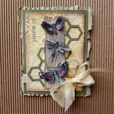 Hello, Today I will show a card made with a lot of Tim Holtz products again. For the background I used the Stitched rectangle die from S. Tim Holtz Dies, Tim Holtz Stamps, Card Creator, Shabby Chic Cards, Spellbinders Cards, Butterfly Cards, Animal Cards, Greeting Cards Handmade, Cardmaking