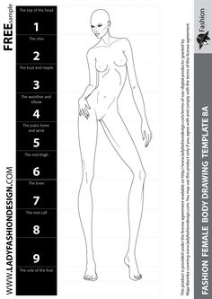 Drawing fashion figures can be VERY COMPLEX: not only do our drawings need to be anatomically sound, but they also have to be very good looking and of unreal, lengthy proportions. Here is a free sample. You can get more on LADYFASHIONDESIGN web site.