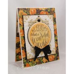 Serendipity Stamps And I Think To Myself rubber stamp in fall colors