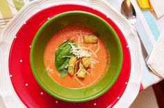 Spicy Tomato Bisque. dc gourmet club.  Literature dinner