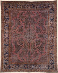 """MANCHESTER KASHAN, 8' 9"""" x 11' 0"""" — Circa 1910 —Price: $9,000, Central Persian Antique Rug - Claremont Rug Company"""