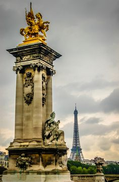 Paris France - Pont Alexandre and Eiffel Tower   Flickr - Photo Sharing!