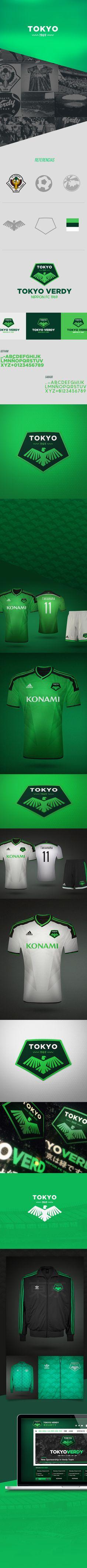 J-League · Tokyo Verdy on Behance Tokyo Verdy, J League, Logo Design, Graphic Design, Sports Logo, Web Design Inspiration, Herb, Identity, Men's Fashion