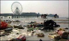 Blackpool Beach England,, features among the worst beaches in the world.http://www.xosam.com/heading-for-the-beach-this-summer-season-avoid-these-10-worst-beaches/
