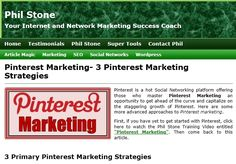 Pinterest Marketing- 3 Pinterest Marketing Strategies by Phil Stone