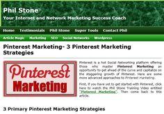 Pinterest Marketing- 3 Pinterest Marketing Strategies by Phil Stone
