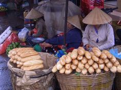 Ho Chi Minh City, Vietnam: just the thought of this bread makes my mouth water! Growing up in Ho Chi Minh, a man would stop by our house every morning with warm bread