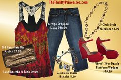 Great casual outfits from www.thethriftyprincesses.com