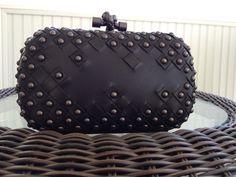 Nero Waxed Leather Studded Knot- PurseForum