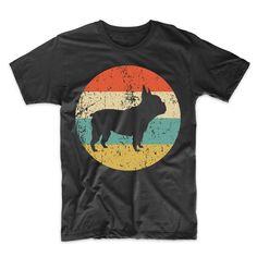 7e77e48861a6a French Bulldog Shirt - Retro French Bulldog Men s T-Shirt - Dog Silhouette  Icon Shirt