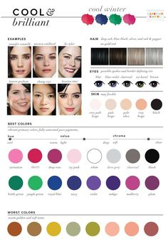 Cool or True Winter is flowing into the Summer category. It is the coolest of all the seasons and includes a bit of a blue undertone in each of its recommended colors. Celebrities include: Jennifer Connelly, Marion Cotillard, Liv Tyler, Lauren Graham, Zhang Ziyi, Krysten Ritter