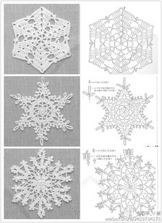 free crochet snowflake diagrams