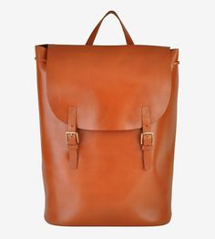Cavalier Buckle Closure Leather Backpack by Most Wanted USA on Scoutmob Shoppe