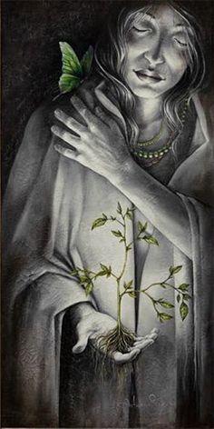 Nosso  Feminino Sagrado:      Sou aquela que carrega em suas entranhas a fo...