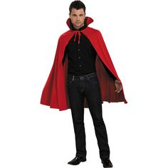 Red Mid Length Cape Costume Easy Costumes Fancy