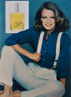 """Shelley Hack…the """"Charlie Angel"""" of perfume ads.  She was Tiffany Welles in the TV series """"Charlie's Angels"""" (1979-1980)."""