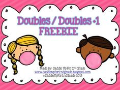 Doubles And Doubles Plus One Worksheets & Teaching Resources Second Grade Math, First Grade Classroom, Math Classroom, Grade 2, Math Strategies, Math Resources, Math Activities, Addition Strategies, Math Doubles