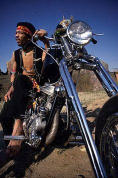 Hendrix on his Chopper