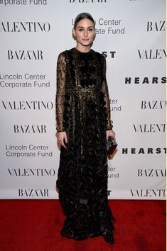 a7759dec6f Olivia Palermo looked downright regal at the Evening Honoring Valentino Gala  in a black empire gown